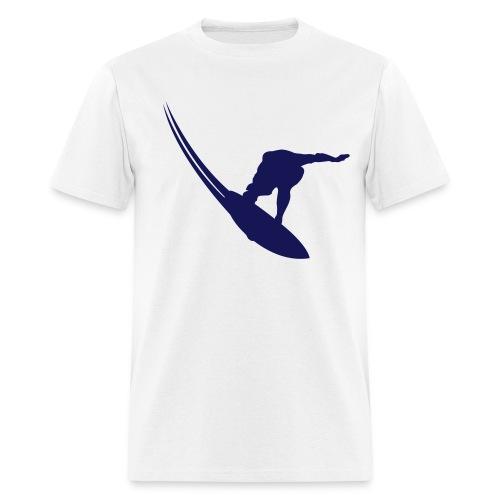 Best Seller: (blue & white) NO PHONE! NO CAR! NO JOB! NO MONEY! SURFER - Men's T-Shirt