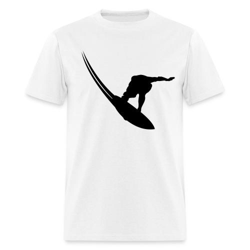 Best Seller: (black & white) NO PHONE! NO CAR! NO JOB! NO MONEY! SURFER - Men's T-Shirt