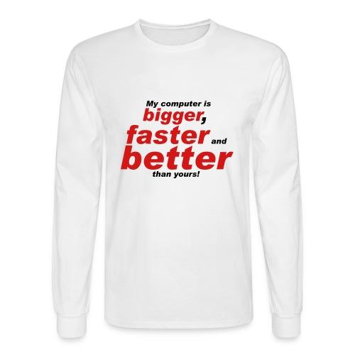 My Computer is ... - Men's Long Sleeve T-Shirt
