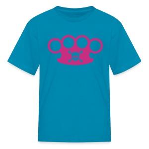 brassknuckles with crossbones - Kids' T-Shirt