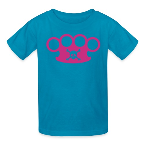 brassknuckles with crossbones - Kids' T-Shirt