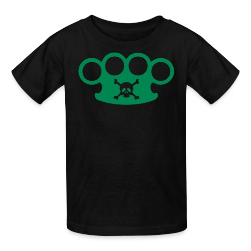 brassknuckles and crossbones - Kids' T-Shirt