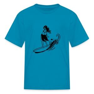 Little Surf Girl - Kids' T-Shirt