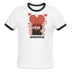 2ADAM12 Spread Love  - Men's Ringer T-Shirt