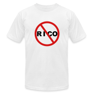 T-Shirts ~ Men's T-Shirt by American Apparel ~ No Rico! (White)