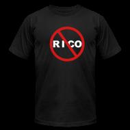 T-Shirts ~ Men's T-Shirt by American Apparel ~ No Rico! (Black)