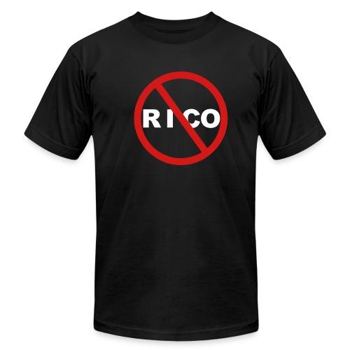 No Rico! (Black) - Men's Fine Jersey T-Shirt
