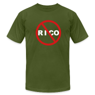T-Shirts ~ Men's T-Shirt by American Apparel ~ No Rico! (Olive)