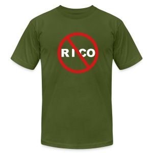 No Rico! (Olive) - Men's T-Shirt by American Apparel