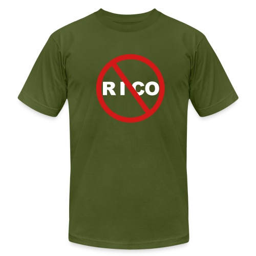No Rico! (Olive) - Men's Jersey T-Shirt