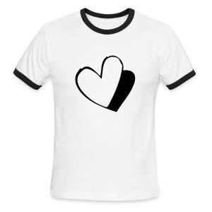 Blue Hearts Tshirt - Men's Ringer T-Shirt