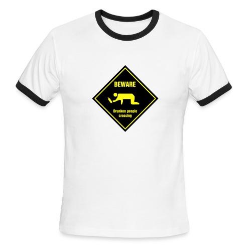 Drunken People Crossing - Men's Ringer T-Shirt