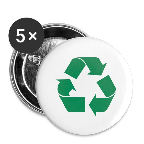 Recycle Pins (5-Pack) - Small Buttons