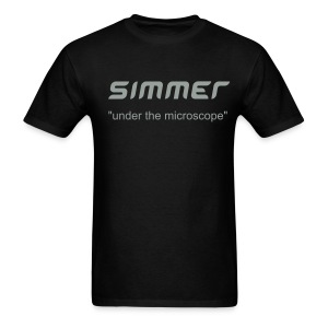 MENS BLACK SIMMER TEE UNDER THE MICROSCOPE - Men's T-Shirt
