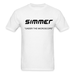 MENS WHITE SIMMER TEE UNDER THE MICROSCOPE - Men's T-Shirt