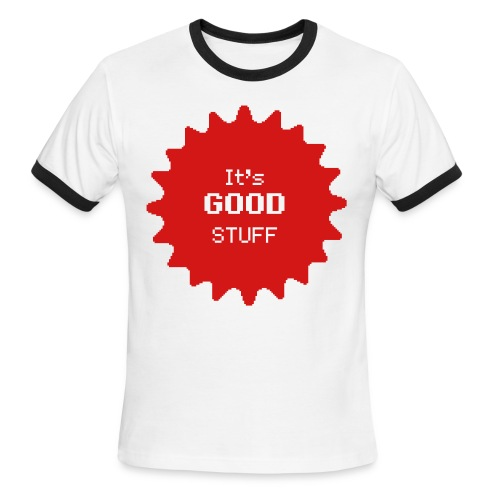 White and Red T-Shirt - Men's Ringer T-Shirt