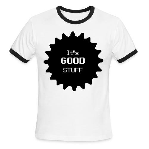 White and Black T-Shirt - Men's Ringer T-Shirt