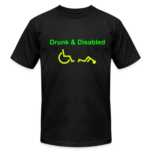 Drunk & Disabled - Men's  Jersey T-Shirt