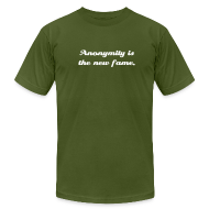 T-Shirts ~ Men's T-Shirt by American Apparel ~ Anonymity is the new fame.