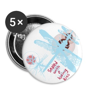 Dragonfly Button; large - Large Buttons