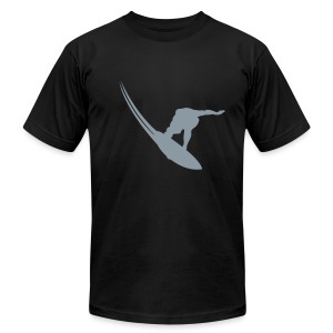 Surfer silhouette  - Men's T-Shirt by American Apparel