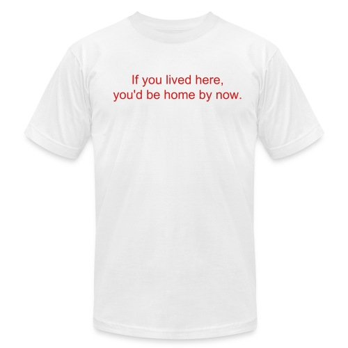 you lived here - short - Men's Fine Jersey T-Shirt