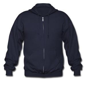 Plain Men's Zipper Hoodie - Men's Zip Hoodie