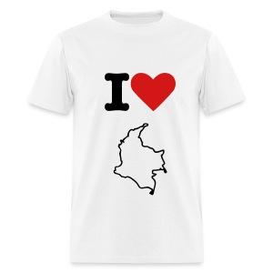 i love colombia white - Men's T-Shirt