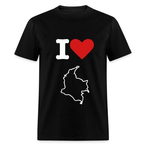 i love colombia black - Men's T-Shirt