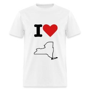 i love ny white - Men's T-Shirt
