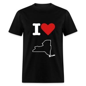 i love ny black - Men's T-Shirt