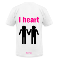 T-Shirts ~ Men's T-Shirt by American Apparel ~ FAG HAG w/ i heart back