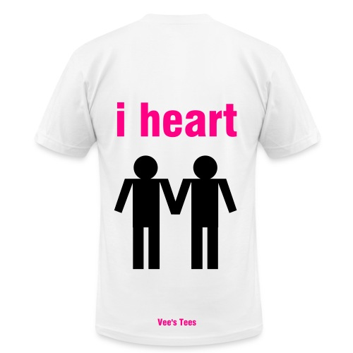 FAG HAG w/ i heart back - Men's Fine Jersey T-Shirt