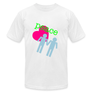 T-Shirts ~ Men's T-Shirt by American Apparel ~ Peace, Love, Gay Boys