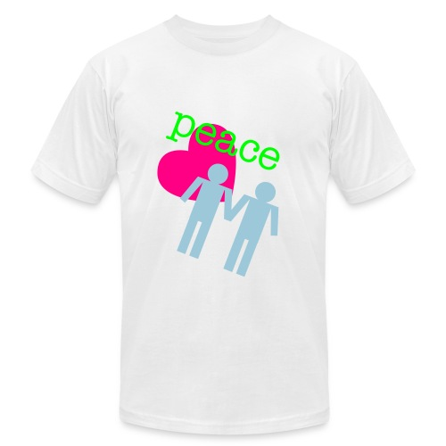 Peace, Love, Gay Boys - Men's Fine Jersey T-Shirt