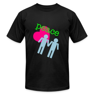 Peace, Love, Gay Boys - Men's T-Shirt by American Apparel