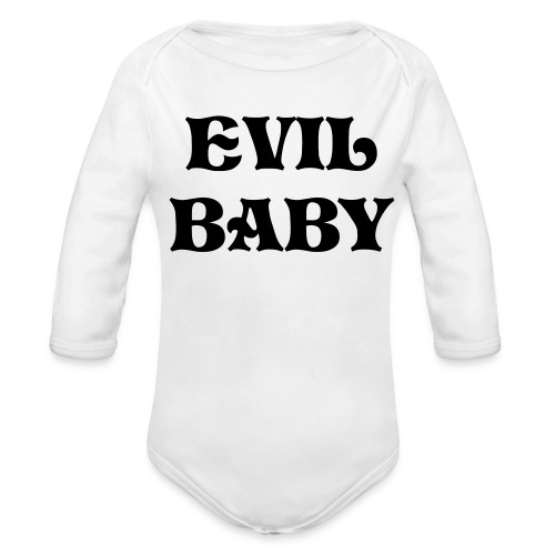 Evil Baby One size - Organic Long Sleeve Baby Bodysuit