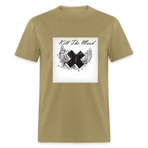 Kill the the mood cross & wings t-shirt - Men's T-Shirt