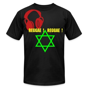DE MUSIC OF RASTAFARI! - Men's T-Shirt by American Apparel