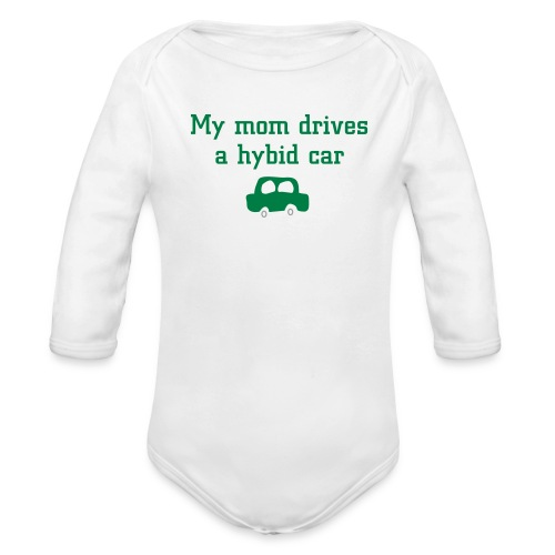 Hybrid car - Organic Long Sleeve Baby Bodysuit