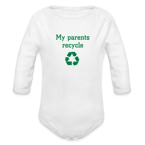 Recycle - Organic Long Sleeve Baby Bodysuit