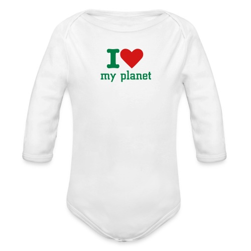 I heart - Organic Long Sleeve Baby Bodysuit