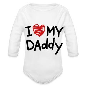 Daddy Love  - Long Sleeve Baby Bodysuit