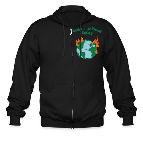 Global Warming Sucks! - Men's Zip Hoodie