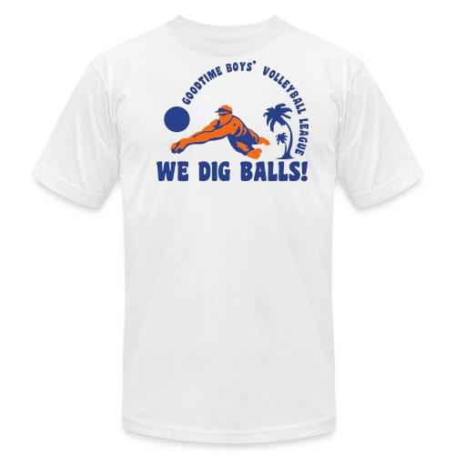 Goodtime Boys' Volleyball League- We Dig Balls - Men's  Jersey T-Shirt