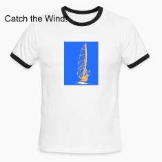 Catch the Wind! white t-shirt with black trim