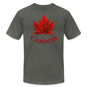 Canada Souvenir Men's Jersey T-shirt AA Maple Leaf Art - Men's T-Shirt by American Apparel