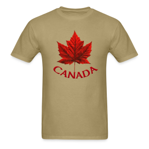 Canada Souvenir Men's T-Shirt Canada Maple Leaf Mens Shirt - Men's T-Shirt