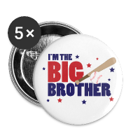 Buttons ~ Large Buttons ~ Big Brother Baseball Button
