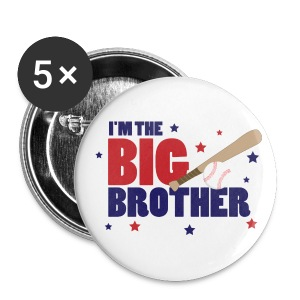 Big Brother Baseball Button - Large Buttons
